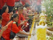 Celebrazioni cinesi di nuovo anno. Immagini Stock