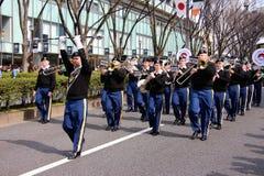 Celebrazioni del giorno di St Patrick della banda dell'esercito americano immagine stock libera da diritti