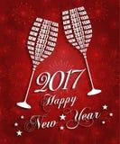 Celebrazioni del nuovo anno 2017 illustrazione di stock