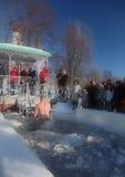 Celebrazioni di epifania in Russia Fotografia Stock