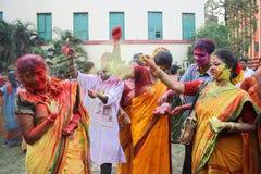 Celebrazioni di festival di Holi Fotografia Stock