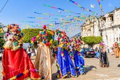 Celebrazioni di giorno del ` s del nuovo anno, San Juan del Obispo, Guatemala fotografia stock