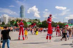 Celebrazioni di giorno della città a Ekaterinburg, Russia Immagine Stock