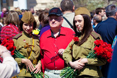 Celebrazioni di giorno di vittoria a Mosca Fotografia Stock Libera da Diritti