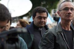 Papa della cattedrale di Buenos Aires Immagini Stock