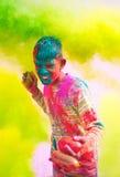 Celebrazioni di Holi in India. Fotografie Stock Libere da Diritti
