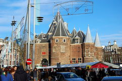 Celebrazioni di Natale a Amsterdam Immagine Stock Libera da Diritti