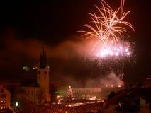 Celebrazioni di nuovo anno Fotografia Stock