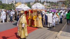 Celebrazioni 2016 di Timket in Etiopia Fotografia Stock Libera da Diritti