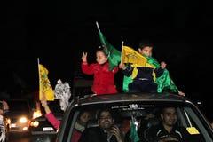 Celebrazioni di vittoria a Gaza Immagini Stock