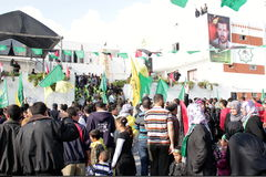 Celebrazioni di vittoria a Gaza Immagini Stock Libere da Diritti
