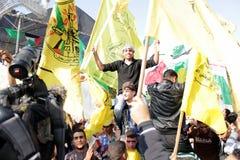 Celebrazioni di vittoria a Gaza Fotografia Stock