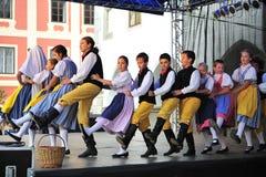 Celebrazioni di Wenceslas del san in Cesky Krumlov Fotografia Stock Libera da Diritti