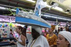 Celebrazioni di Yemanja alla spiaggia di Copacabana Immagini Stock Libere da Diritti