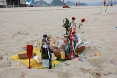Celebrazioni di Yemanja alla spiaggia di Copacabana Immagine Stock Libera da Diritti