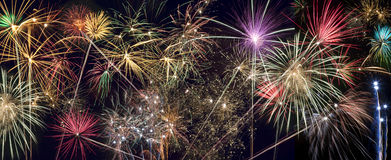 Celebrazioni - esposizione dei fuochi d'artificio Fotografia Stock