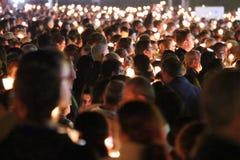 Celebrazioni religiose del 13 maggio 2015 nel santuario di Fatima - il Portogallo Fotografia Stock Libera da Diritti