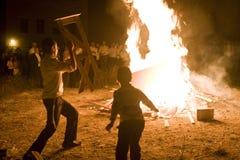 Celebrazioni religiose del ritardo Ba-Omer, Israele Fotografia Stock Libera da Diritti
