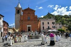 Celebrazioni religiose di Corpus Christi in Italia Fotografia Stock Libera da Diritti