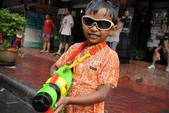 Celebrazioni tailandesi di nuovo anno Fotografia Stock