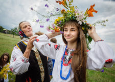 Celebrazioni tradizionali dello slavo di Ivana Kupala Fotografie Stock