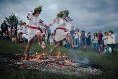 Celebrazioni tradizionali dello slavo di Ivana Kupala Fotografia Stock