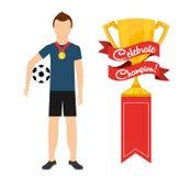 Celebre al campeón ilustración del vector