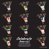 Celebre Américas. ilustración del vector
