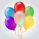 Celebre con demostraciones de los globos que la decoración celebra y celebración ilustración del vector