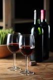 Celebre con el vino rojo Foto de archivo libre de regalías