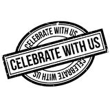 Celebre con nosotros el sello de goma stock de ilustración