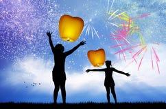 Celebre el Año Nuevo stock de ilustración