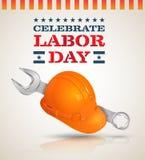 Celebre el cartel del Día del Trabajo ilustración del vector
