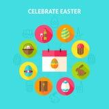 Celebre el concepto de Pascua stock de ilustración
