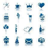 Celebre el conjunto del icono Imagen de archivo libre de regalías