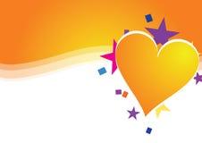 Celebre el corazón stock de ilustración
