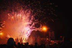 Celebre el día de fiesta en el cuadrado Gran diversi?n fotografía de archivo libre de regalías