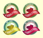 Celebre el diseño de la insignia del icono de la divisa del símbolo de la Navidad libre illustration