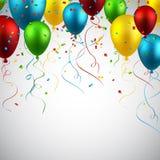 Celebre el fondo colorido con los globos stock de ilustración