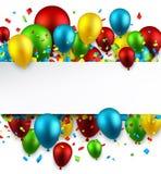 Celebre el fondo colorido con los globos ilustración del vector