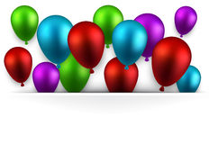 Celebre el fondo colorido con los globos libre illustration