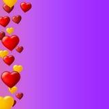 Celebre el fondo colorido con volar los globos coloridos en naranja Plantilla para la tarjeta de felicitaciones, invitación con stock de ilustración