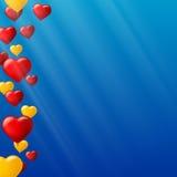 Celebre el fondo colorido con volar los globos coloridos en naranja Plantilla para la tarjeta de felicitaciones, invitación con libre illustration
