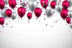 Celebre el fondo con los globos stock de ilustración