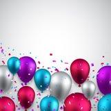 Celebre el fondo con los globos ilustración del vector