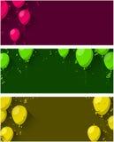Celebre el fondo con los globos planos libre illustration