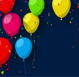 Celebre el fondo con los globos planos ilustración del vector