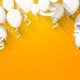 Celebre el fondo con los globos planos stock de ilustración