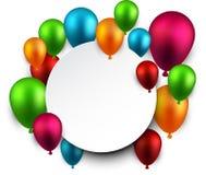 Celebre el fondo del marco con los globos stock de ilustración