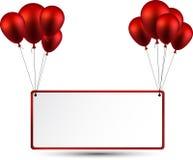 Celebre el fondo del marco con los globos ilustración del vector